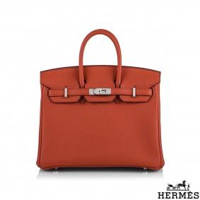 Hermès Capucine Togo Birkin 25cm PHW